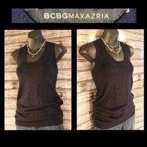 3/30<>Silk Blend Knit Top by BCBGMaxAzria